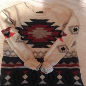 American Eagle Off White Pattern Sweater (S)